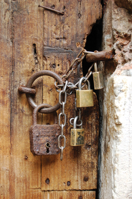 Locks on old door