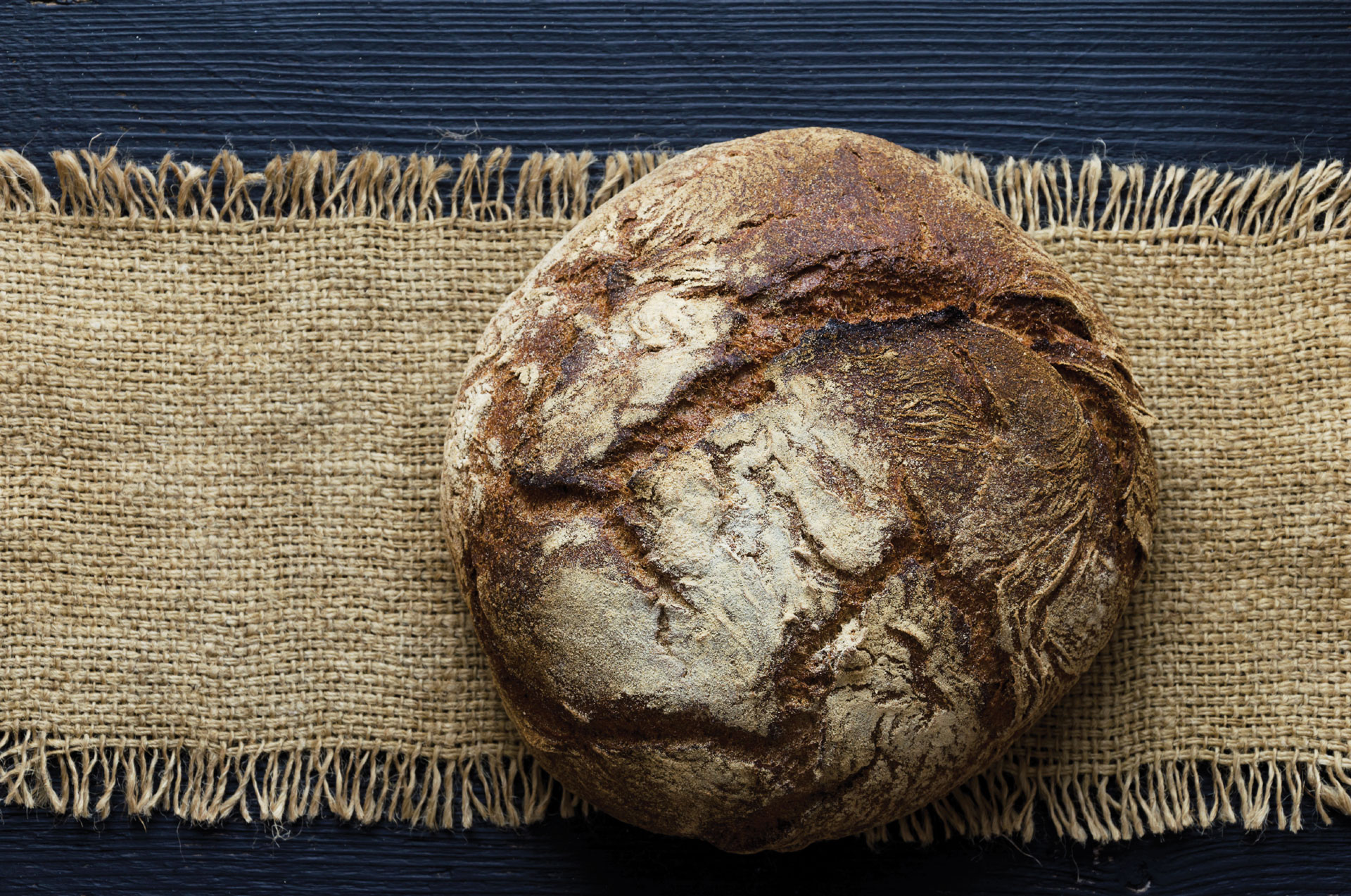 Bread on sackcloth